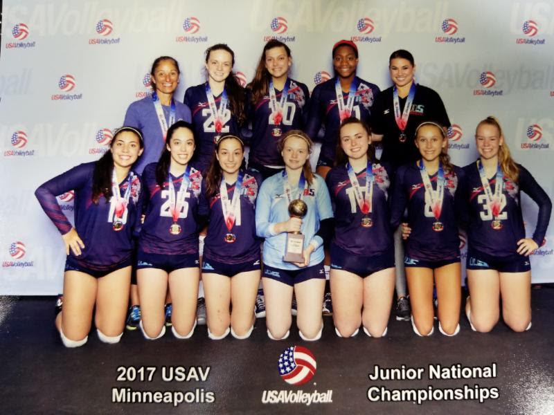 2017 14-Karen National Champions or Gold Medalist of the 14 National Division at USAV Nationals