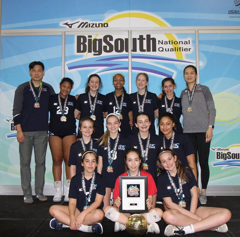 2018 12 Jing Gold Medalist of the 12 National Division at Big South Qualifier