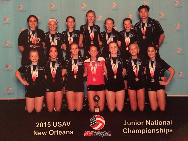 2015 12 Jing Silver Medalist of the 12 National Division at the USAV Nationals!