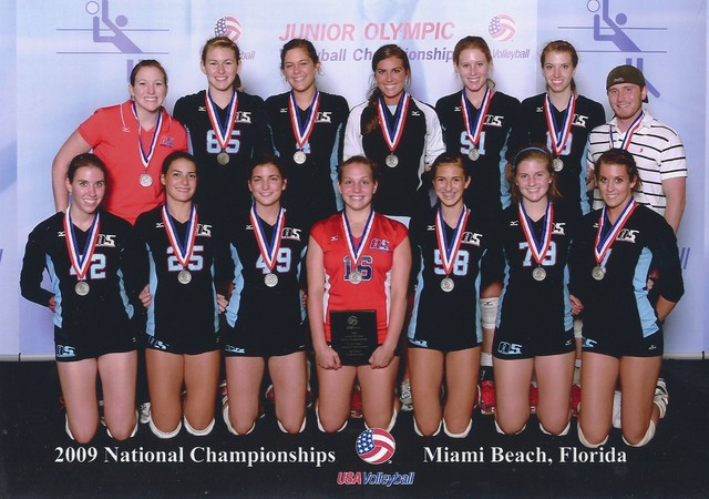 2009 16 Gabe National Champions of the National Division at USAV!