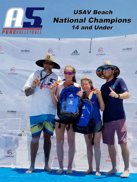 14 and Under USAV Beach Nationals Champs (Martin and Watkins)